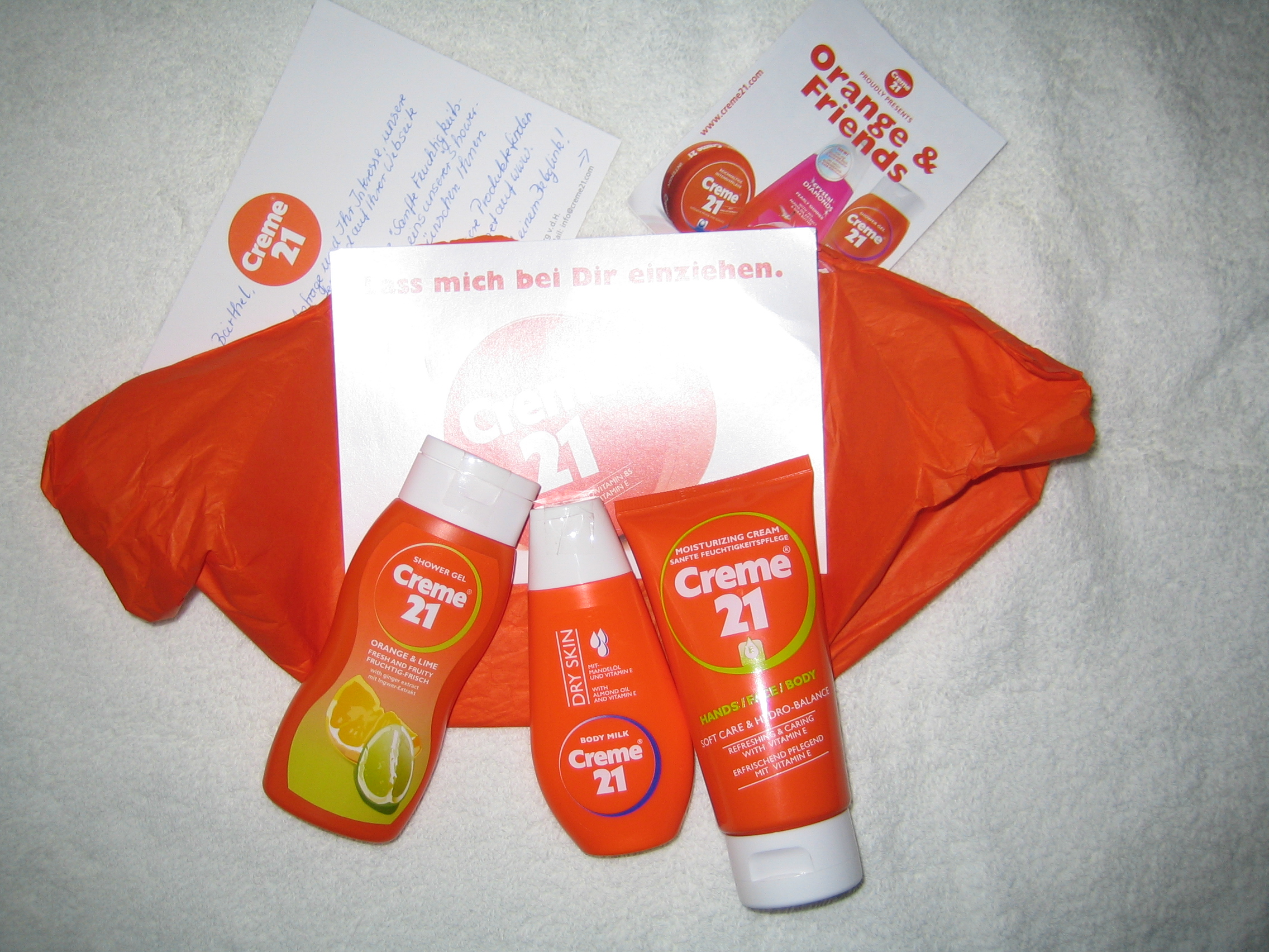 Produkttest Creme 21 Shower Gel,  Body Milk und Handcreme