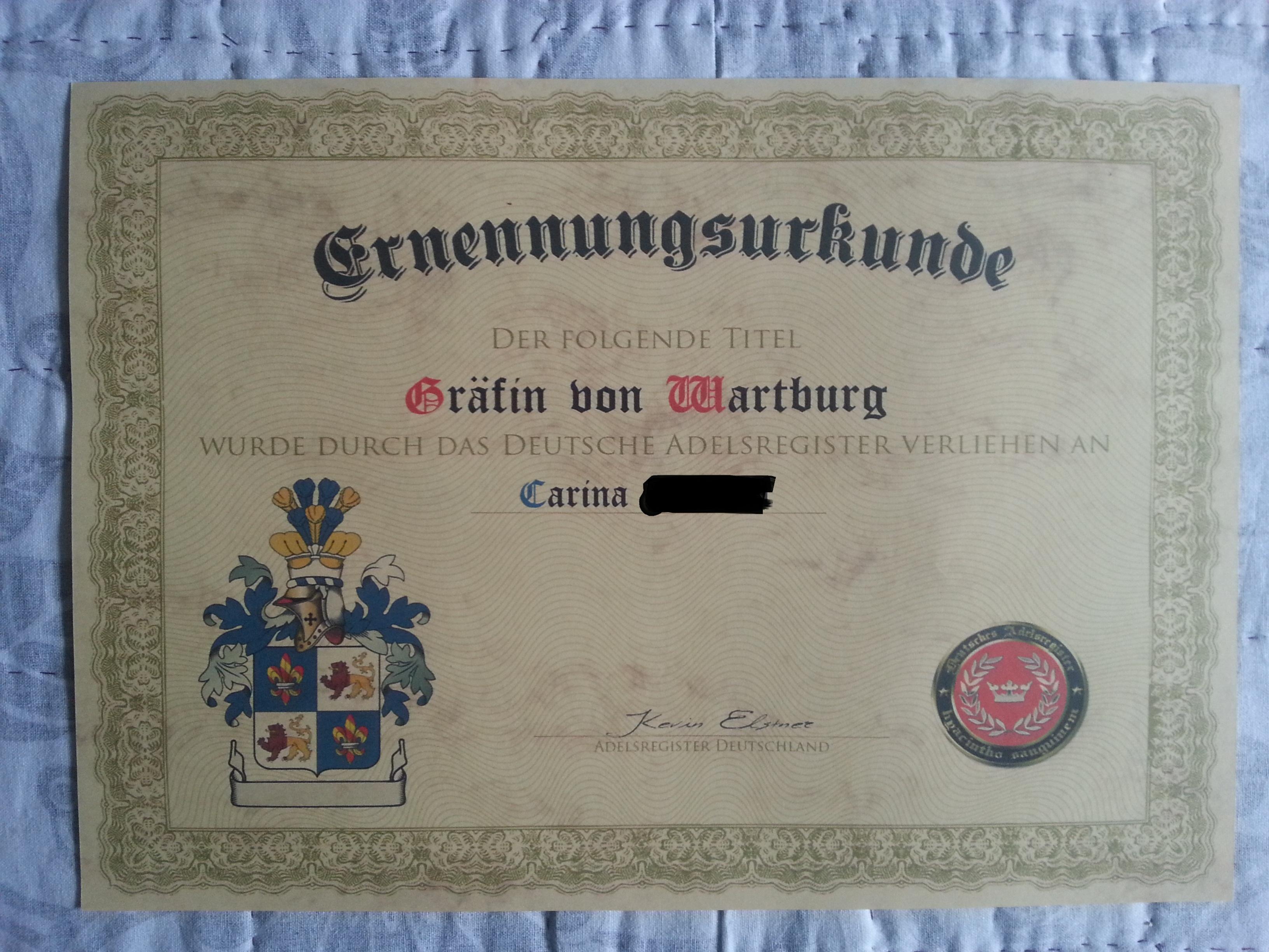 Gräfin von Wartburg